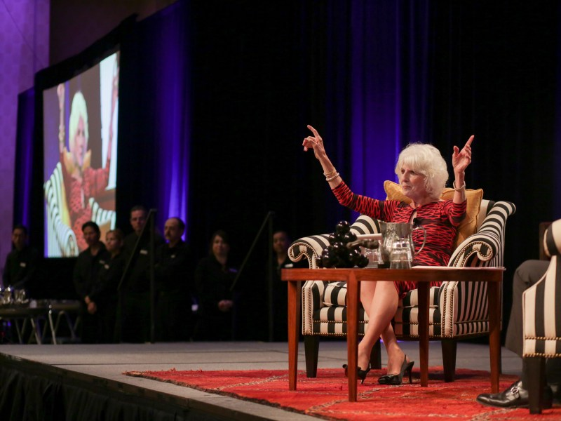 Diane Rehm during her interview with Jeffrey Rosen.