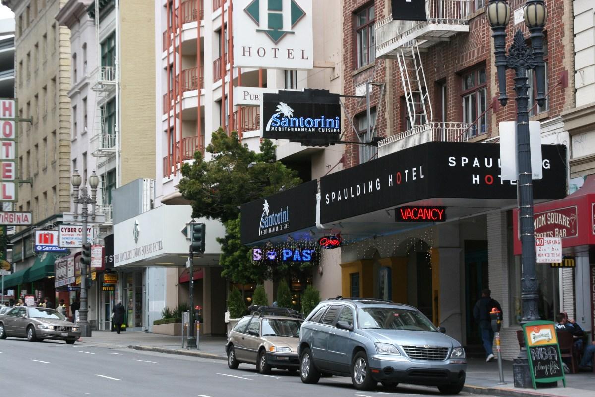 O'Farrell Street in the Tenderloin neighborhood in San Francisco.