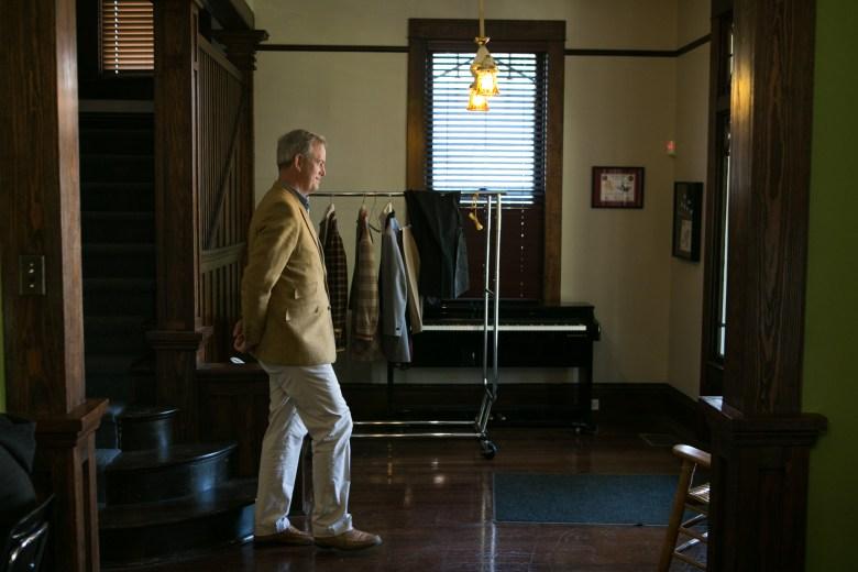 Keystone School Head Brian Yager walks through Keystone School.