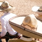 Charros sit on top of a fence at A Day in Old Mexico & Charreada.