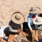 Charros line up to perform at A Day in Old Mexico & Charreada.