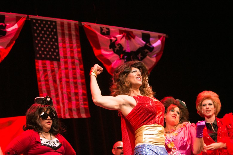 Actors perform in Cornyation at Charline McCombs Empire Theatre during Fiesta.