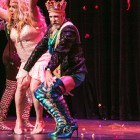 King Anchovy LII dances on stage in Cornyation at Charline McCombs Empire Theatre during Fiesta.