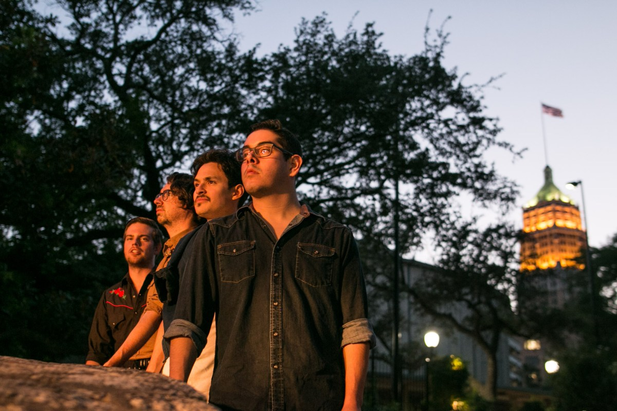 (From left) Kody Anderson, Kyle Anderson, Jeff Palacios, and Skyler Ellis are the four members of the band The Levees.
