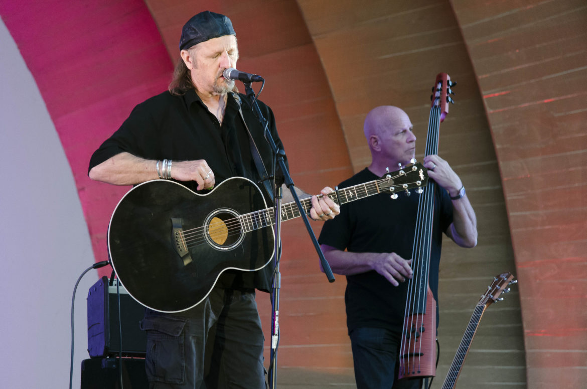 Jimmy LaFave during the Summer Concert Series at the Levitt Pavilion in Pasadena California in 2013.