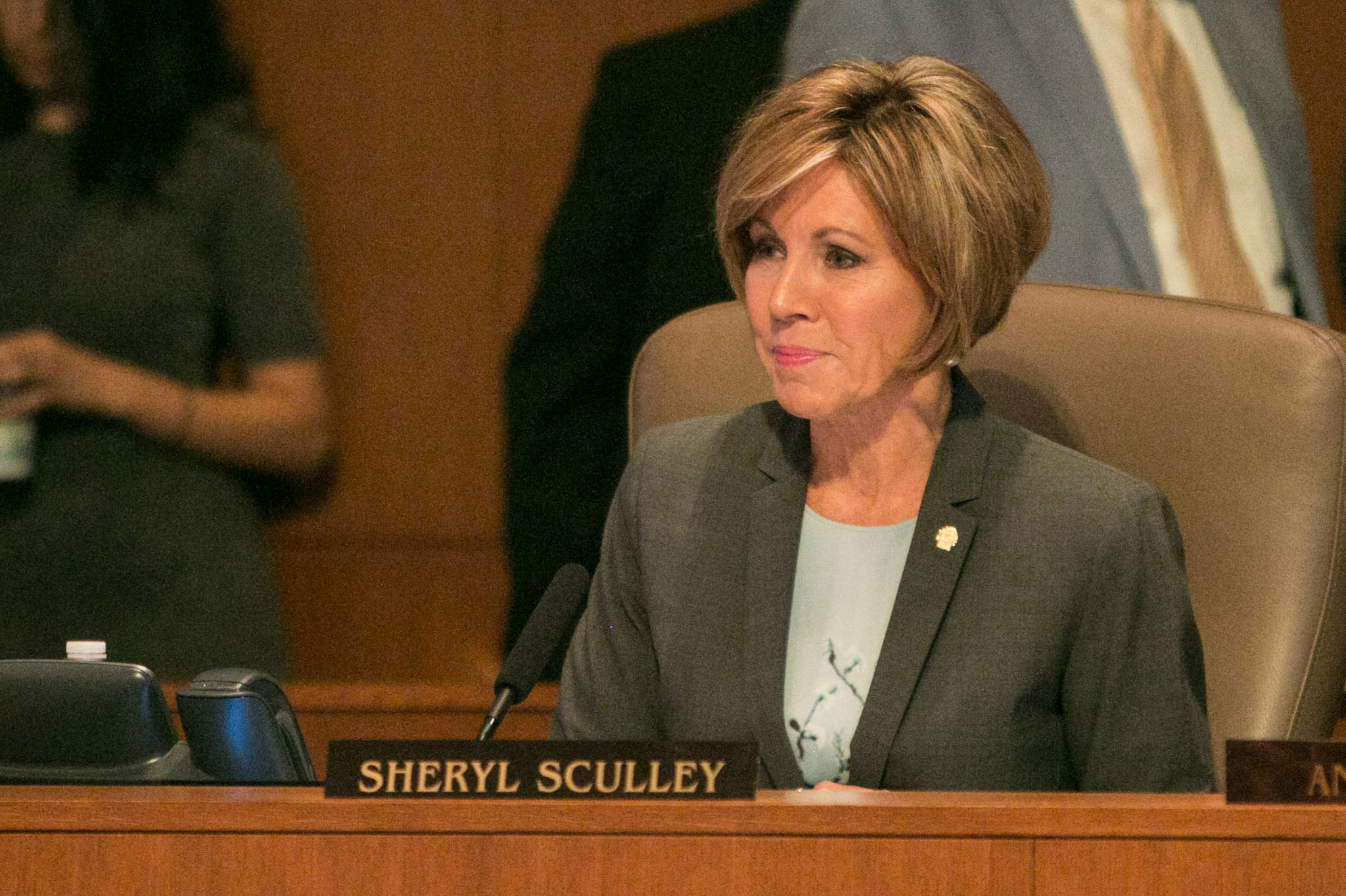 City Manager Sheryl Sculley speaks to City Council.