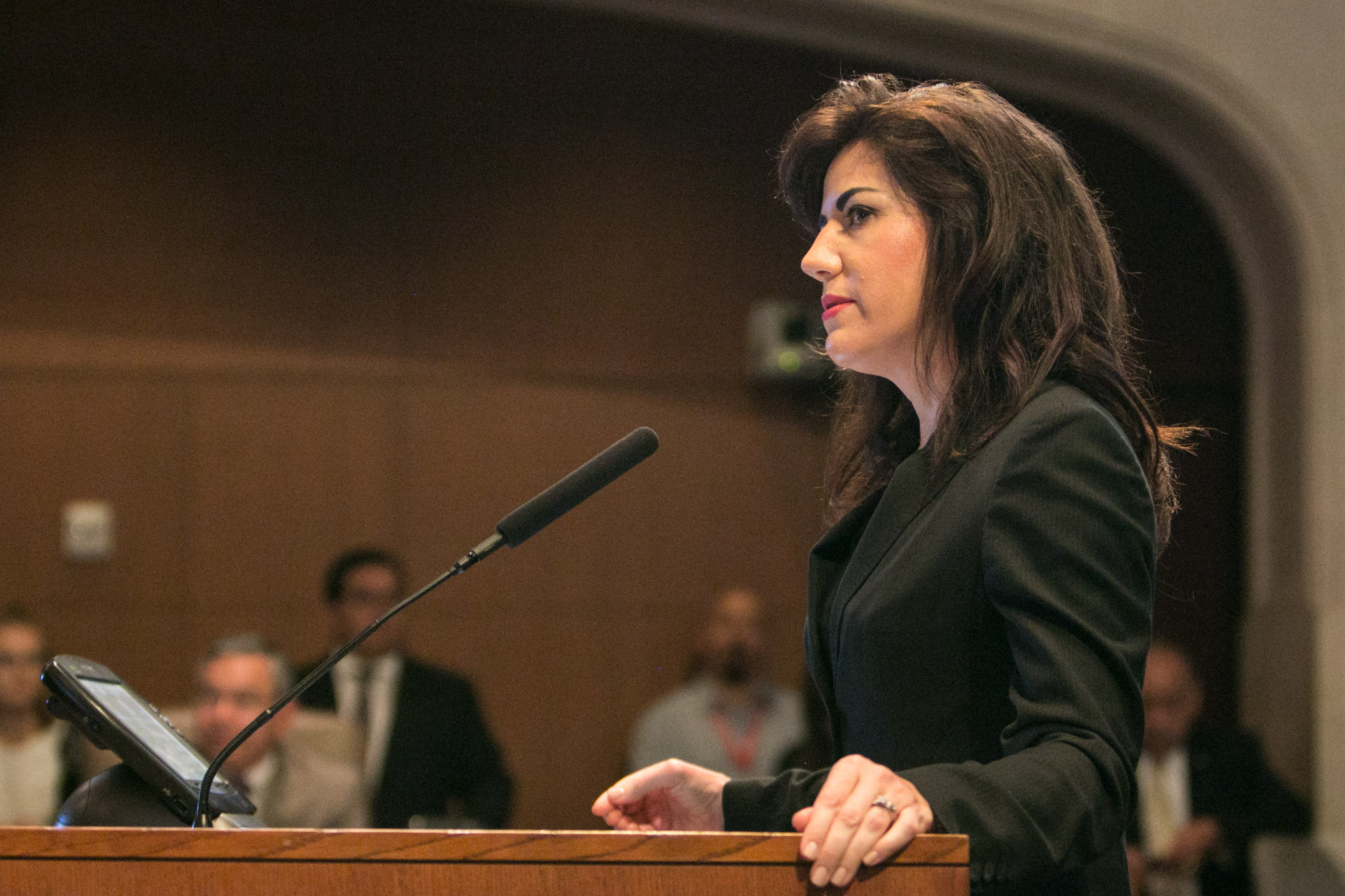 Assistant City Manager Lori Houston speaks to City Council.