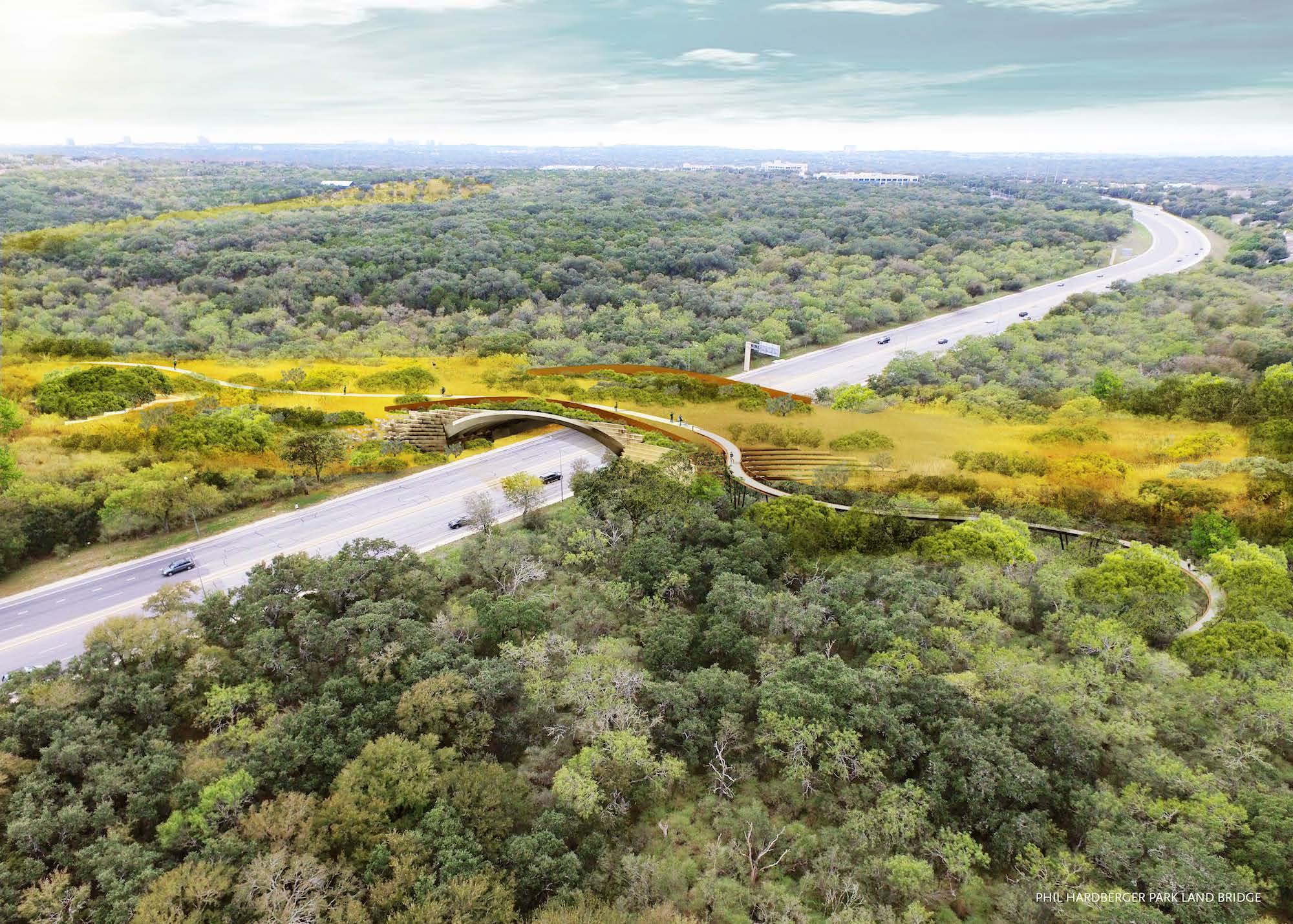The Phil Hardberger Park land bridge will be 150-feet wide.