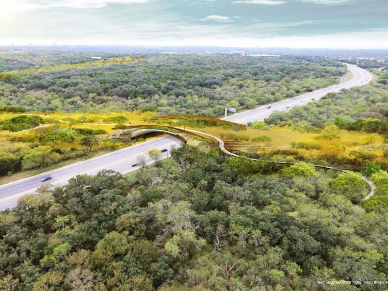 The Phil Hardberger Park land bridge will be 150-feet wide.