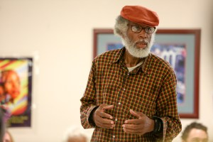 Walter Bowman speaks in favor of the Mongeon's garage apartment project in Dignowity Hill.