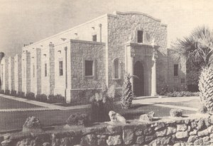 """Images from the book """"Monuments Erected by the State of Texas to Commemorate the Centenary of Texas Independence"""" show the original Alamo Museum exterior."""