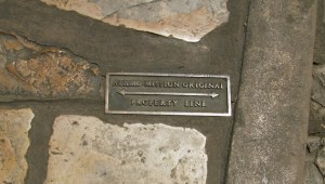 Blink, and you'll miss this small bronze marker embedded into Alamo Plaza that indicates the Mission's original property line. Several of these markers can be found in the plaza.