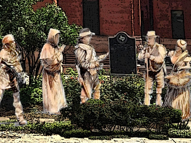 The Canary Islands Descendants Association hopes to, over time, implement these five statues in front of the Bexar County courthouse as an homage to their ancestors.