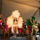 Samba Vida dancers perform at the Texas Folklife Festival.