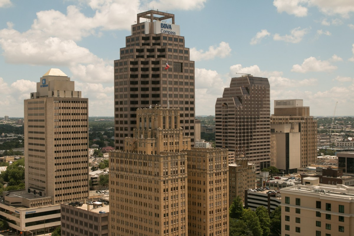 BBVA's new executive offices are located in The Weston Centre (center).