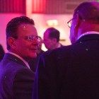 San Antonio Museum of Science and Technology Founder David Monroe chats with guests at the unveiling of the museum.