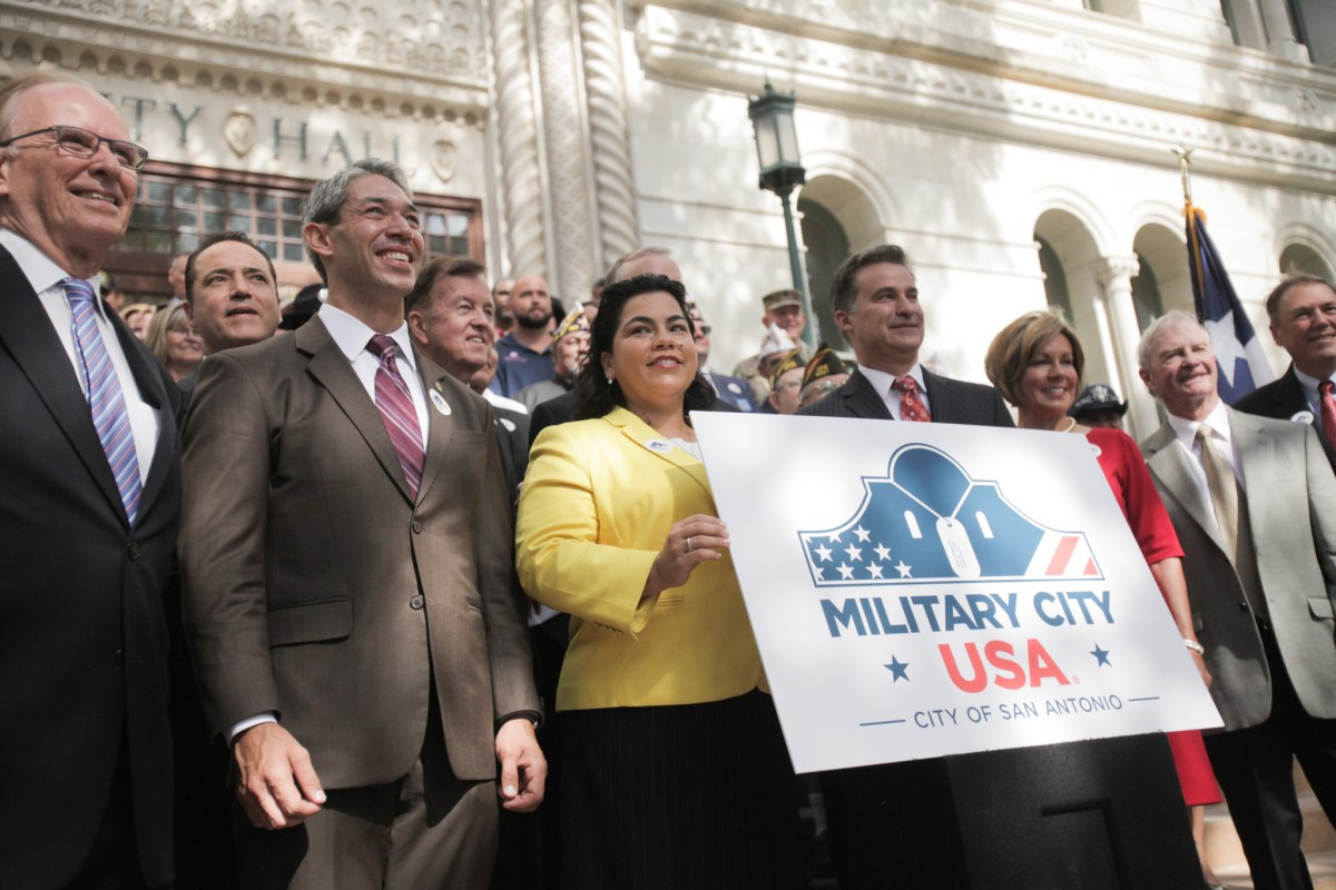 San Antonio formally celebrates the registration of the trademark Military City USA.