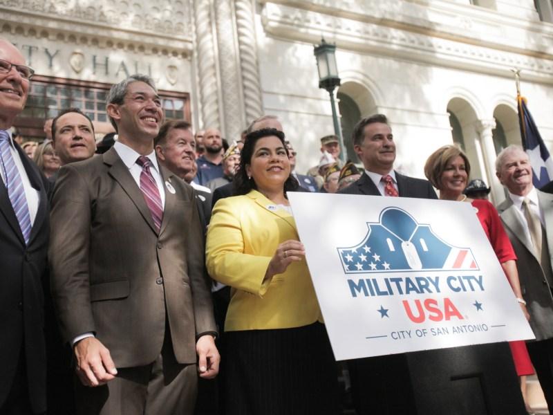 San Antonio formally celebrates the registration of the trademark Military City USA.