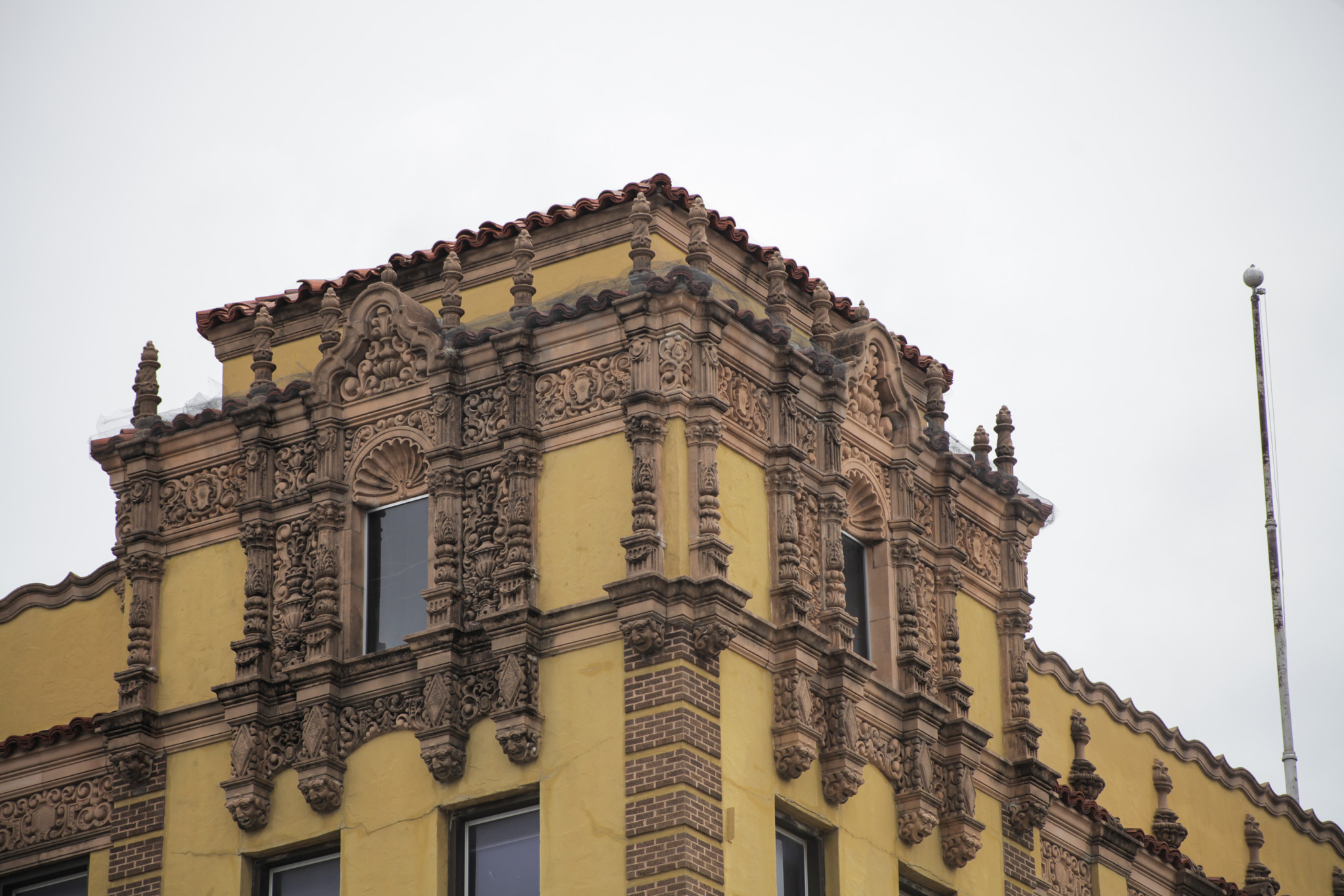 The restoration project of the Light building will include replacing the windows, re-roofing, plaster and paint restoration, and more.