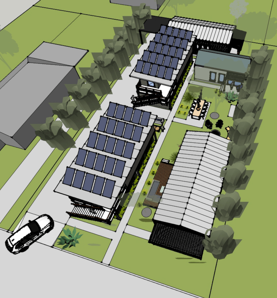 The Porter Street Greens are proposed as a 100% Solar Powered, Net Zero Community.