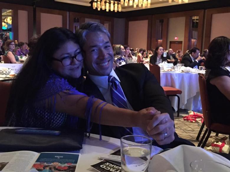 Erika Prosper and Ron Nirenberg 'Tejano Dance' during a banquet.