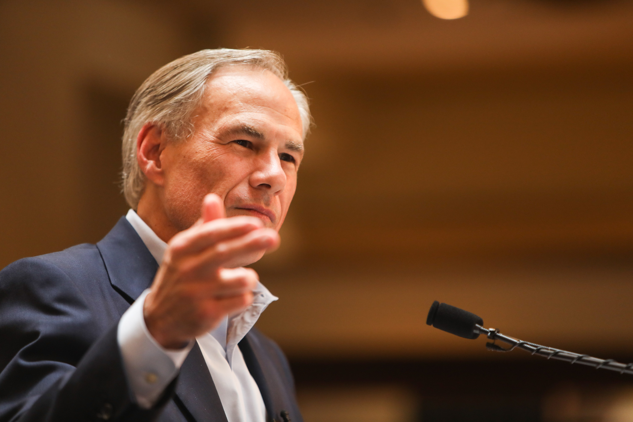 Gov. Greg Abbott makes his campaign announcement at Sunset Station.
