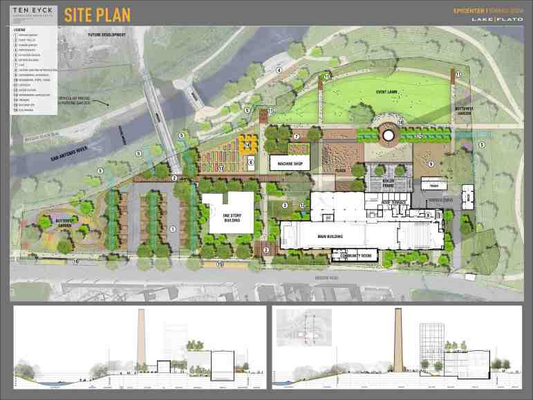 The site plan for the EPIcenter on Mission Road.