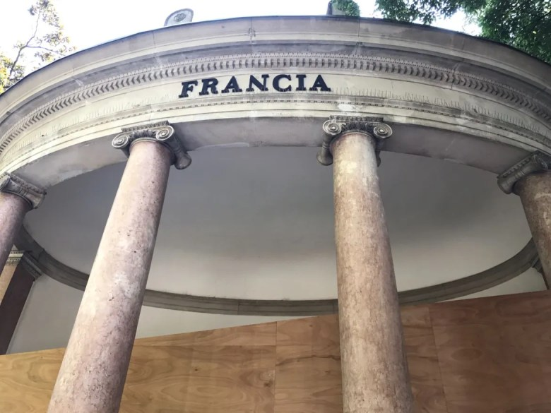 The exterior of the French pavilion at the Venice Biennial.