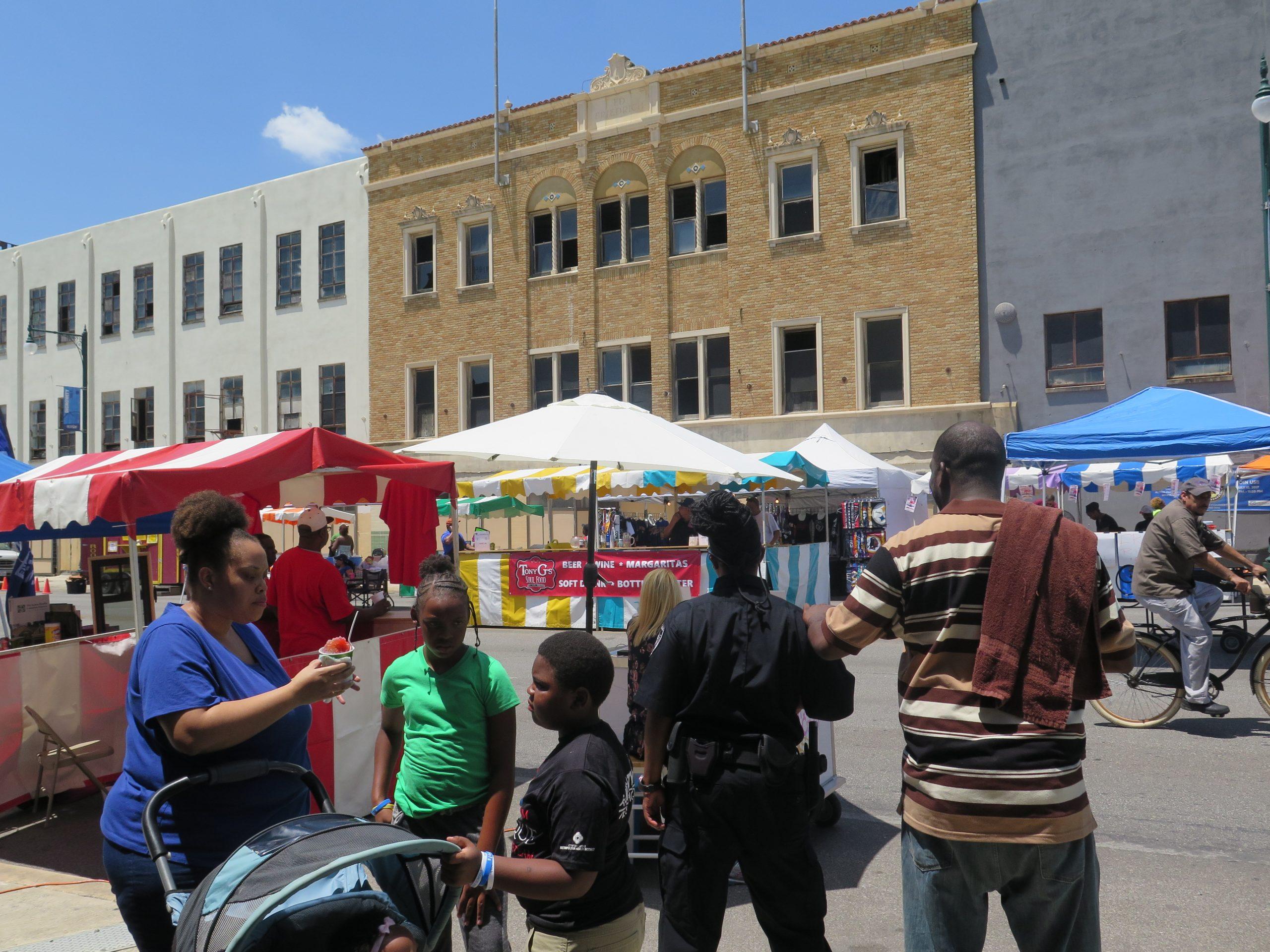 Eastside residents enjoy the third All-American Burger Festival.