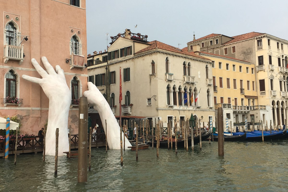 Temporary Art Installation During the Venice Biennale.