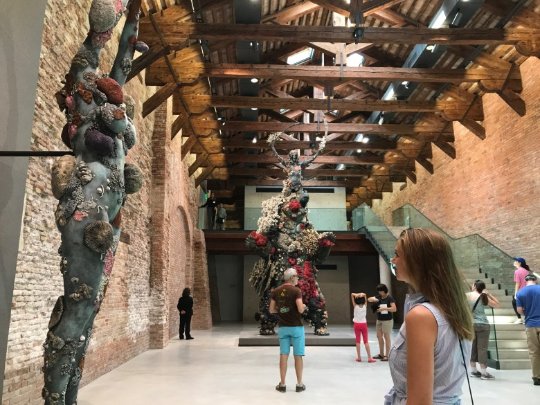 The author at the Damien Hirst exhibition at the Punta Della Dogana in Venice running concurrently with the Venice Biennial.