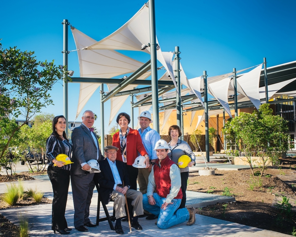 The Guido family during the construction of The DoSeum in 2015.