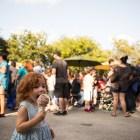 Madeline, 2, enjoys an ice cream cone at the 5th Annual Bat Loco Bash.