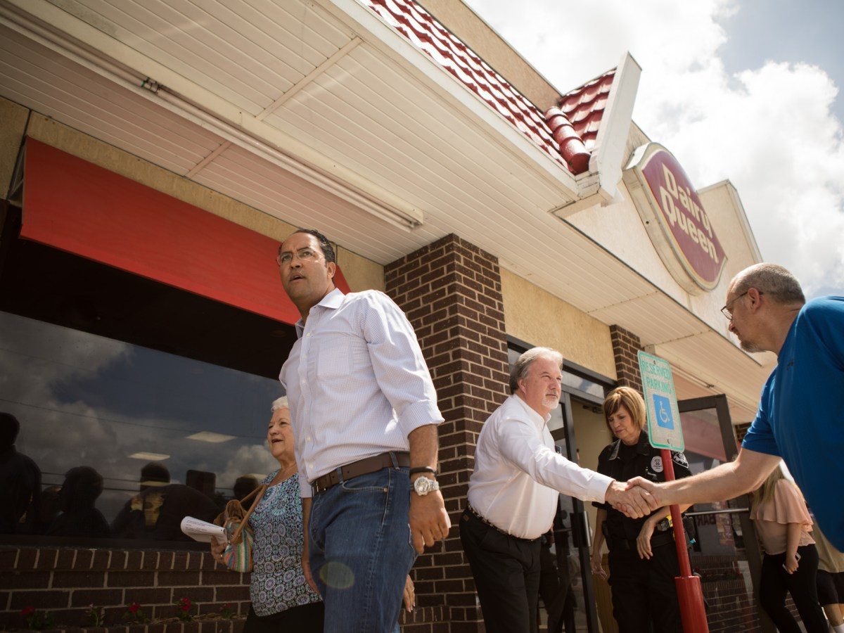 Congressman Will Hurd (R-Texas) leaves a Diary Queen in Devine, Texas, after attending a stop along his Third Annual Town Hall Series DC2DQ.