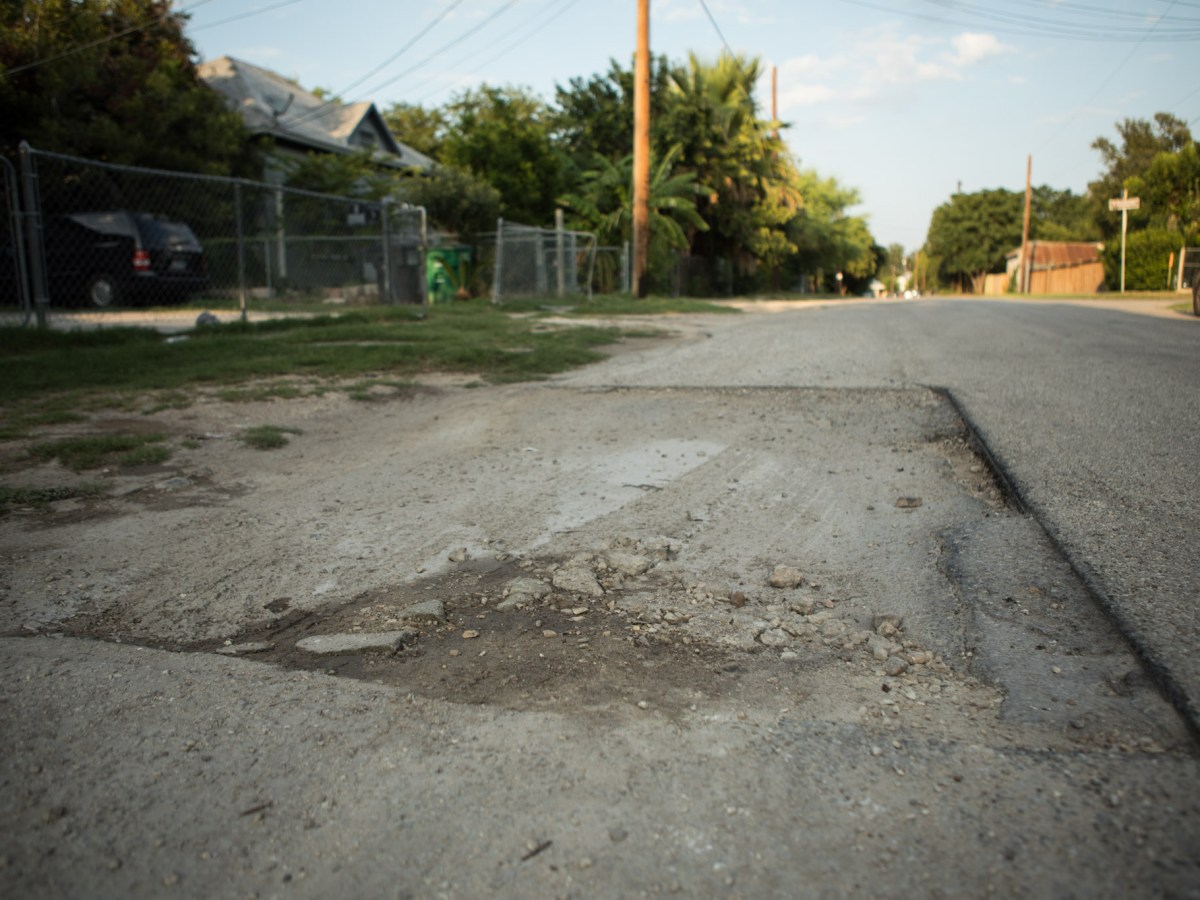 Pavement needs improvement on Gorman Street.