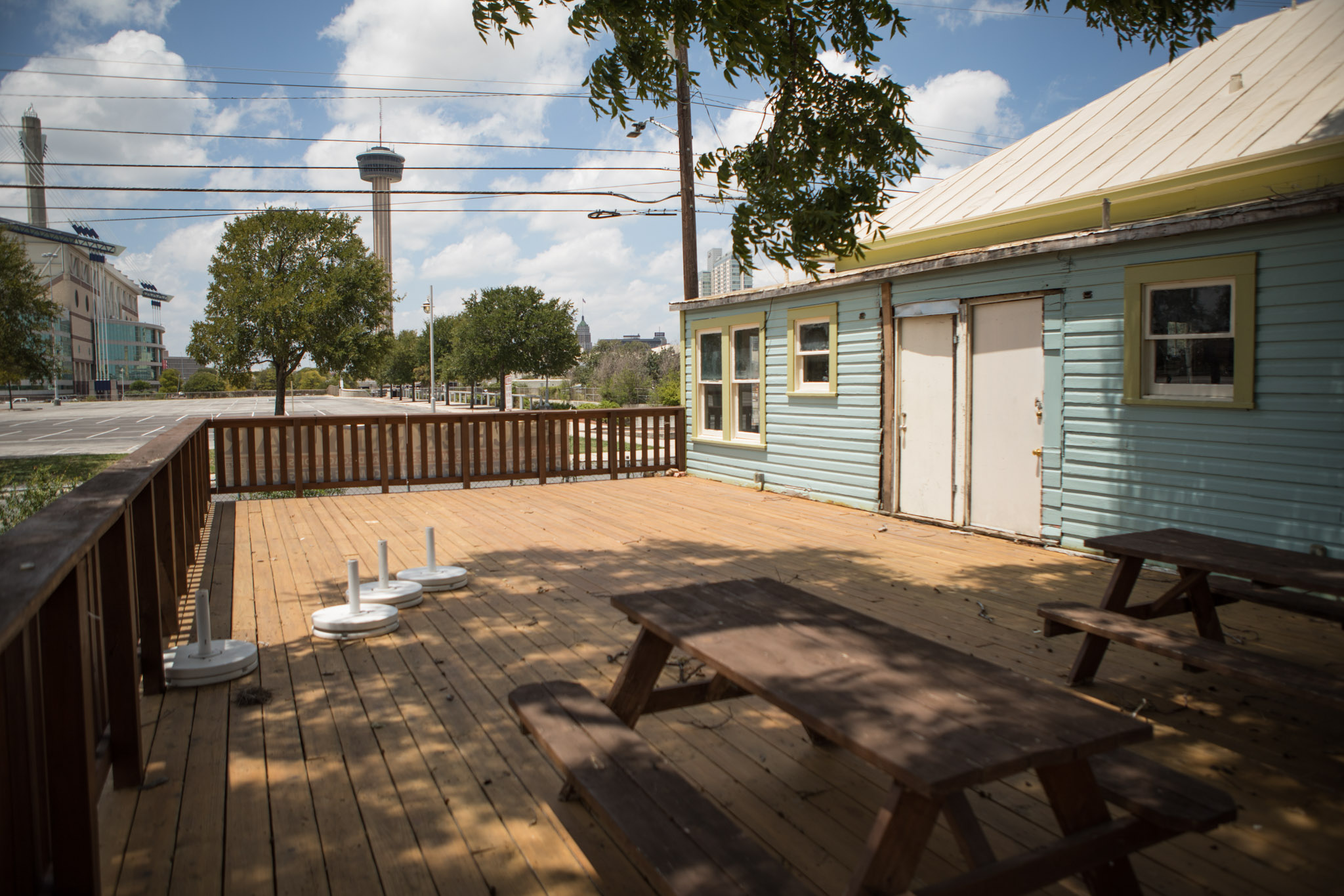 Cherrity Bar patio area.