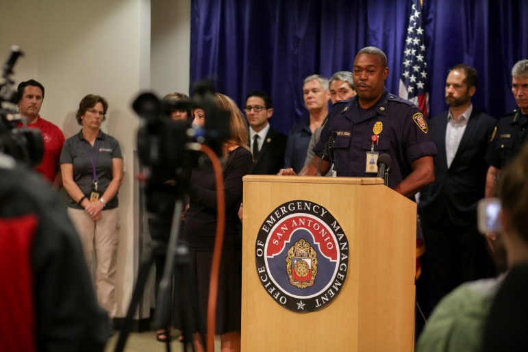 San Antonio Fire Department Chief Charles Hood recalls his efforts during the aftermath of hurricane Katrina.
