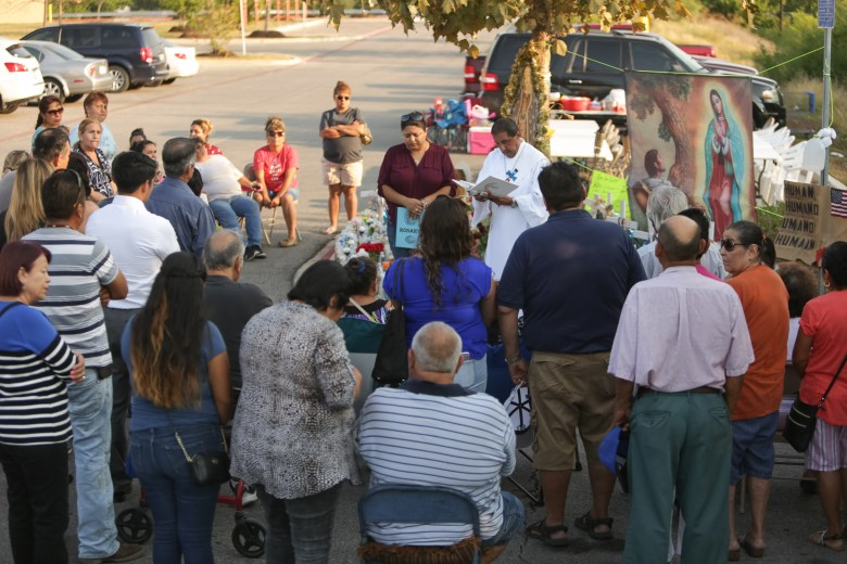A rosary hosted by Deacon Jesse Alcala of Saint James the Apostle remember the victims of those that passed away during the human smuggling attempt on Sunday the 23rd.