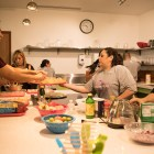 Appetizers are prepared in the kitchen of the Harvey E. Najim Family YMCA.