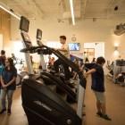 The public explores the new gym facilities of the Harvey E. Najim Family YMCA.