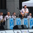 U.S. Air Force Band of the West Dimensions in Blue performs at Jazz'SALive 2017.