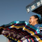 A Ballet Folklorico Mestizo dancer performs a dance at the Mission Pachanga.