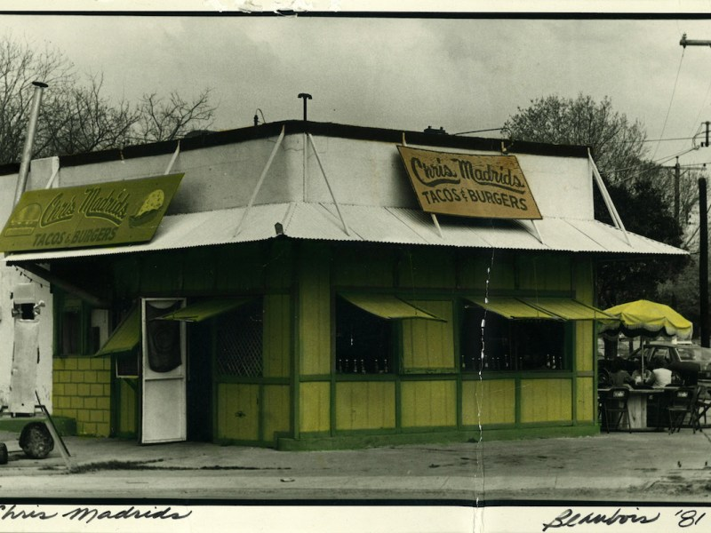 Chris Madrid's original building as seen in 1981.