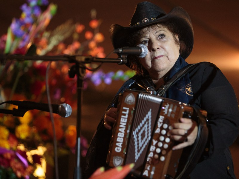 Eva Ybarra the 'Queen of the Accordion' will be a special guest performing with Carrie Rodriguez during the Pearl concert series Canciones.