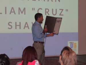 """Councilman William """"Cruz"""" Shaw (D2) delivers the September Attendance Awareness Proclamation."""