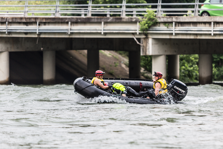 San Antonio firefighters undergo swift water rescue training in May 2016.