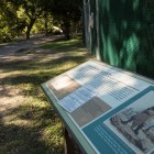 This Texas Historical Plaque at Brackenridge Park explains that a tannery was built on the property by the Confederate government circa 1862.