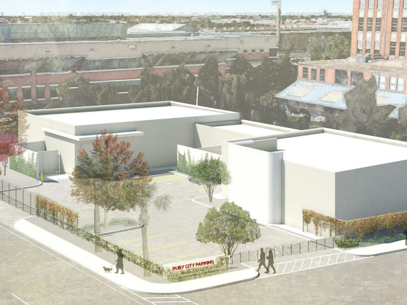 This rendering shows the operations facility the Linda Pace Foundation wants to build at 1203 South Flores Street. It will support operations for the surrounding facilities the nonprofit owns in the area.