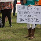 DACA students and supporters urge a call to action for U.S. Representative Will Hurd to sponsor the Dream Act.