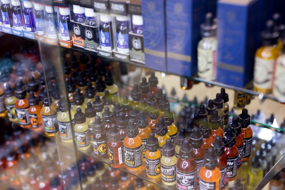 Vaping liquid is sold in multiple flavors at varying price points at Smoke to Live Vapor Shop.